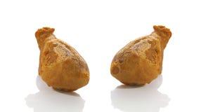 Ciérrese encima del pollo dos frito imagen de archivo