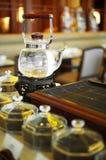 Ciérrese encima del pote chino del té foto de archivo libre de regalías