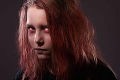 Ciérrese encima del retrato de la bruja del adolescente Foto de archivo