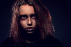 Ciérrese encima del retrato de la bruja del adolescente Fotografía de archivo libre de regalías