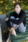 Ciérrese encima del retrato de la muchacha agradable joven Fotos de archivo libres de regalías