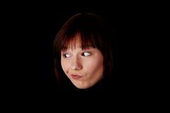 Ciérrese encima del retrato de la mujer caucásica joven feliz Fotos de archivo