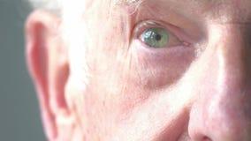 Ciérrese encima del retrato de un hombre mayor metrajes