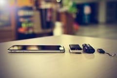 Ciérrese encima del teléfono elegante Fotos de archivo