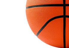 Ciérrese encima del tiro del baloncesto aislado en blanco Fotografía de archivo
