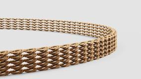 Ciérrese encima del tiro del ejemplo de la pulsera 3d del oro ilustración del vector