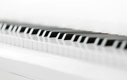 Ciérrese encima del tiro del teclado de piano Foto de archivo