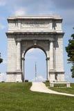 Ciérrese para arriba de arco conmemorativo nacional en la fragua de Vally Imagen de archivo