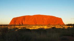 Ciérrese para arriba de ayers oscilan en el Territorio del Norte en la puesta del sol