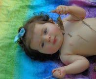 Ciérrese para arriba de bebé Imagen de archivo libre de regalías