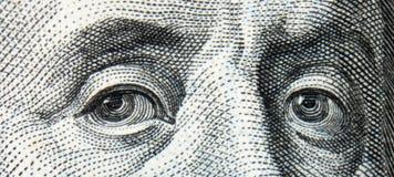 Ciérrese para arriba de billete de dólar Foto de archivo libre de regalías