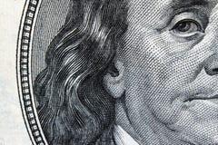 Ciérrese para arriba de billete de dólar Foto de archivo