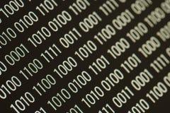 Ciérrese para arriba de código binario fotos de archivo libres de regalías