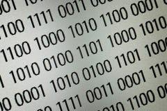 Ciérrese para arriba de código binario imagen de archivo libre de regalías