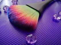 Ciérrese para arriba de cepillo de la fan del colorfull imágenes de archivo libres de regalías
