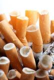 Ciérrese para arriba de cigarrillos Foto de archivo libre de regalías