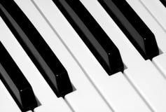 Ciérrese para arriba de claves del piano Imagen de archivo libre de regalías