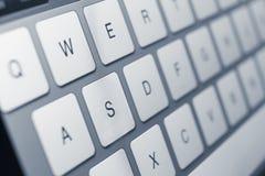 Ciérrese para arriba de claves del teclado de la computadora portátil Fotos de archivo libres de regalías