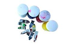 Ciérrese para arriba de colores de cartel coloridos con el foco selectivo Imagen de archivo