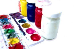 Ciérrese para arriba de colores de cartel coloridos con el foco selectivo Imagenes de archivo