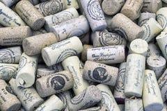 Ciérrese para arriba de corchos del vino del vino del cretan Fotos de archivo libres de regalías