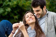 Ciérrese para arriba de coulple en amor Imagen de archivo libre de regalías