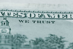 Ciérrese para arriba de 100 dólares de cuenta en moneda de los E.E.U.U. Fotografía de archivo
