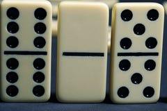 Ciérrese para arriba de dominós del grupo. Fotos de archivo libres de regalías