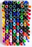 Ciérrese para arriba de etiquetas de plástico Fotos de archivo libres de regalías