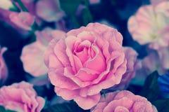 Ciérrese para arriba de flores artificiales rosadas Imagen de archivo libre de regalías