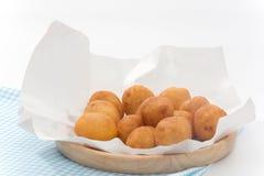 Ciérrese para arriba de Fried Sweet Potato Balls Imagenes de archivo