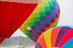 Ciérrese para arriba de 3 globos del aire caliente Imagen de archivo libre de regalías