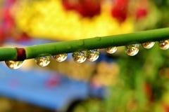 Gotas de agua coloridas Foto de archivo libre de regalías
