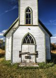 Ciérrese para arriba de iglesia abandonada Imagenes de archivo