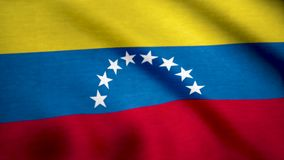 Ciérrese para arriba de la bandera nacional de Venezuela Bandera del fondo de Venezuela libre illustration