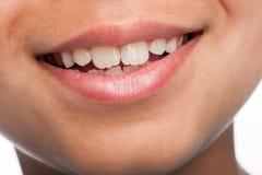 Ciérrese para arriba de la boca del muchacho. Fotos de archivo libres de regalías