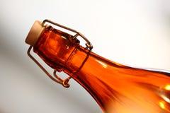 Ciérrese para arriba de la botella de cristal Imagen de archivo