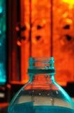 Ciérrese para arriba de la botella de cristal Imagenes de archivo