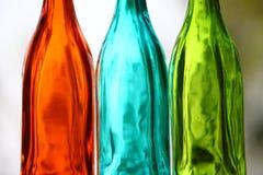 Ciérrese para arriba de la botella de cristal Fotografía de archivo