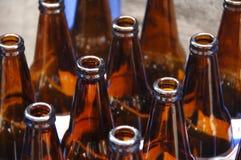 Ciérrese para arriba de la botella de cristal Foto de archivo