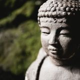 Ciérrese para arriba de la cabeza de Buda fotografía de archivo