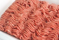Ciérrese para arriba de la carne picada magra Foto de archivo