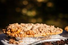Ciérrese para arriba de la corteza de la migaja de la empanada de manzana Fotografía de archivo libre de regalías