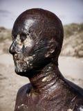 Ciérrese para arriba de la escultura de bronce Foto de archivo