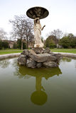 Ciérrese para arriba de la fuente en los jardines Dublín de Iveagh Fotos de archivo