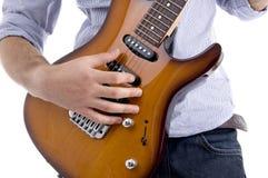 Ciérrese para arriba de la guitarra Fotos de archivo