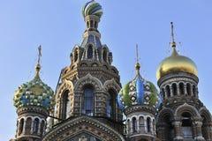 Ciérrese para arriba de la iglesia rusa Foto de archivo libre de regalías