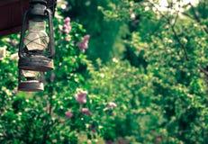 Ciérrese para arriba de la lámpara de keroseno Fotografía de archivo libre de regalías