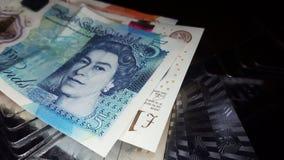 Ciérrese para arriba de la libra Bill imagen de archivo