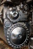 Ciérrese para arriba de la locomotora accionada corriente Imágenes de archivo libres de regalías